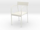 "Bernhardt Studio Chair 3.75"" tall in White Strong & Flexible"