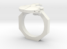 Finger Ring in White Strong & Flexible