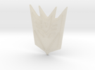 Decepticon Logo V4 in White Acrylic