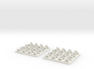2mm DBA Chariots 40x40mm in White Strong & Flexible