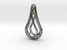 Teardrop Skeleton Pendant in Premium Silver