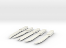 1/6 Butching Knives Update in White Strong & Flexible