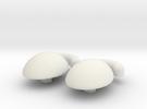 Mr. Potato Head Eyes 2 in White Strong & Flexible
