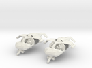 15mm Legionary Gun-Speeders (x2) in White Strong & Flexible