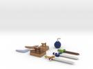Zelda Fan Art: TLoZ: Quarter Set (1/4) in Full Color Sandstone