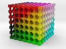 LAB Color Cube: 2 inch in Full Color Sandstone