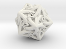 Celtic D20 - Solid Centre for Plastic in White Strong & Flexible