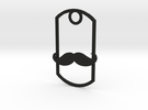 Movember dog tag in Black Strong & Flexible