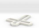 Modern Cross in White Strong & Flexible