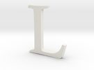 L (letters series) in White Strong & Flexible