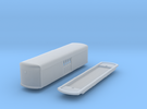 N Scale Trolley Freight Car Body + Floor in Frosted Ultra Detail