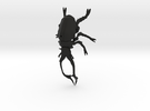 Stag Beetle small with pinhole in Black Strong & Flexible