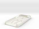 Bottom iphone 5 case in White Strong & Flexible