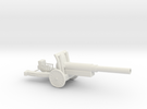 WW2 Cannon (Large size) in White Strong & Flexible