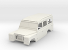1/10 Scale Series III Land Rover 109 Body in White Strong & Flexible