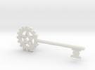 Pentacle Gear Key in White Strong & Flexible