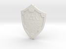 Hylian Shield Keychain/Necklace in White Strong & Flexible