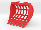 Sieve Bucket LC in Red Strong & Flexible Polished