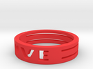 LOVE Ring Size 5.5 in Red Strong & Flexible Polished