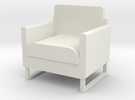 "1/2"" scale Arm Chair in White Strong & Flexible"