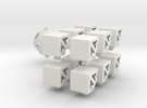 Switch Cube - Part 1 in White Strong & Flexible
