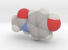 Tylenol molecule (x40,000,000, 1A = 4mm) in Full Color Sandstone