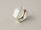 screw ring size 10 in Raw Silver