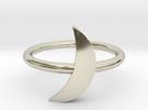 Moon Midi Ring in 14k White Gold
