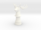 Wild Elk Knight (Round Base) in White Strong & Flexible Polished