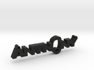 Anthony Nametag in Black Strong & Flexible
