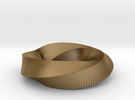Mini Möbius Strip (4,3) in Polished Gold Steel