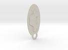 Car Icon Key Chain in Sandstone