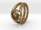 Ring - Jet Turbine Size T in Polished Gold Steel