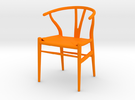 Carl Hansen And Son Wishbone Chair Miniature in Orange Strong & Flexible Polished
