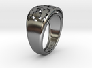 Bague V17 in Polished Silver