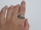 Simply Skull Ring - size 6.5 in Stainless Steel