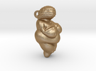 Venus of Willendorf Pendant in Matte Gold Steel