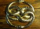 THE NEVERENDING STORY THE AURYN MEDALLION PENDANT in Polished Brass