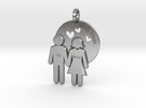 Wedding Present Pendant husband and wife in Raw Silver