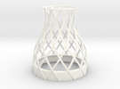 Bell Vase for jar size:70 (4 leads) in White Strong & Flexible Polished