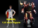 Daniel homage Space Boy 1.6inch Transformers Mini- in Frosted Ultra Detail