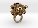 Tubey Ring  in Raw Brass