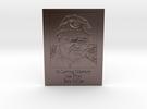 Bob Miller Memorial Embossed in Polished Bronze Steel