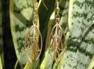 Leaves Earrings in Raw Bronze