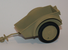 Sd.Ah.1 - German Kettenkrad trailer - 1:18 Scale - in White Strong & Flexible