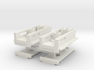 Protocraft Coupler Pocket - Pair - with Draft Gear in White Strong & Flexible