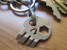 ''Skull'' Keychain / Pendant Multitool in Stainless Steel