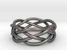 Dreamweaver Ring (Size 7) in Polished Nickel Steel