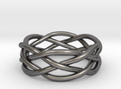 Dreamweaver Ring (Size 12.5) in Polished Nickel Steel