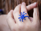 Airis Flower Rings - Various Sizes in Blue Strong & Flexible Polished